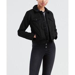 NWOT Levi's Sherpa Lined Denim Jacket